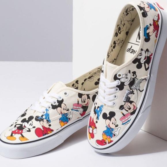 Nwt Disney X Vans Authentic Mickey 9th